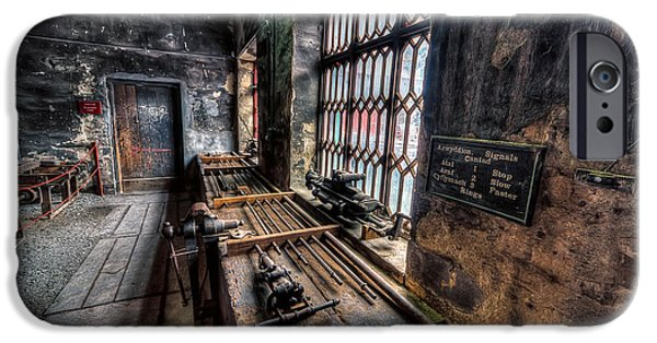Machinery iPhone Cases - Victorian Workshops iPhone Case by Adrian Evans
