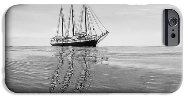 Windjammer iPhone Cases - Victory Chimes at anchor iPhone Case by Don Seymour