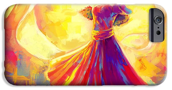 Christian work Paintings iPhone Cases - Victory Dance iPhone Case by Tamer and Cindy Elsharouni