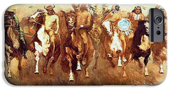 Victory iPhone Cases - Victory Dance iPhone Case by Frederic Remington
