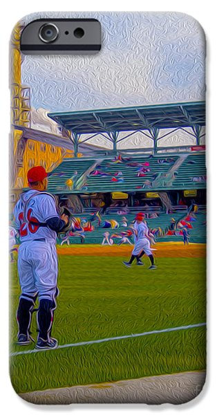 Victory Field Catcher 1 iPhone Case by David Haskett