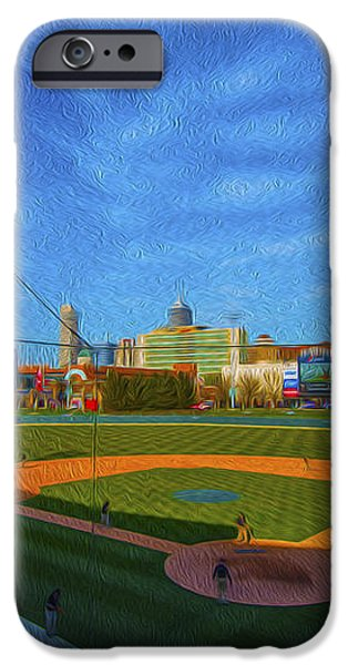Victory Field Home Plate iPhone Case by David Haskett