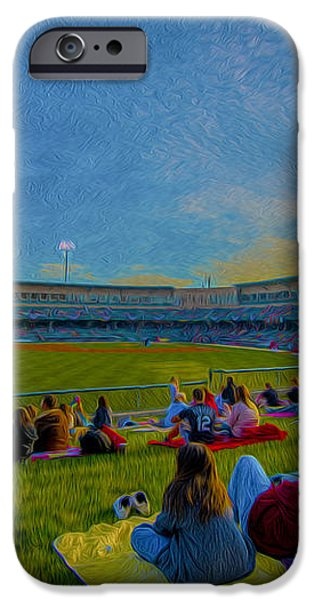 Victory Field Oil iPhone Case by David Haskett