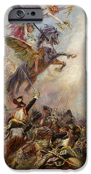 Allegory iPhone Cases - Victory iPhone Case by Jean-Baptiste Edouard Detaille