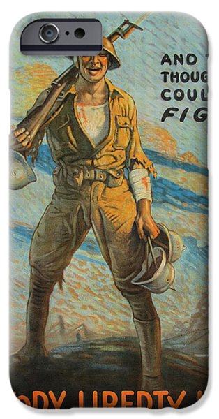 Ww1 Paintings iPhone Cases - Victory Loan iPhone Case by Unknown