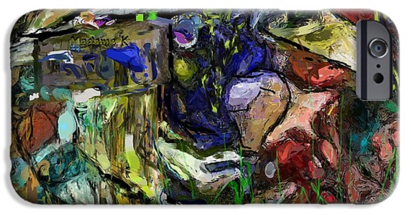 Abstract Digital iPhone Cases - Vietnam Retrospective - 3 iPhone Case by David Lane