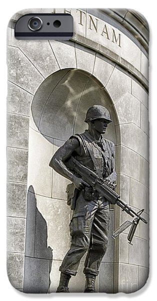 Of Power iPhone Cases - Vietnam Veteran War Memorail iPhone Case by Thomas R Fletcher