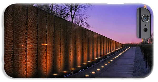 D.c. iPhone Cases - Vietnam Veterans Memorial at Sunset iPhone Case by Mountain Dreams