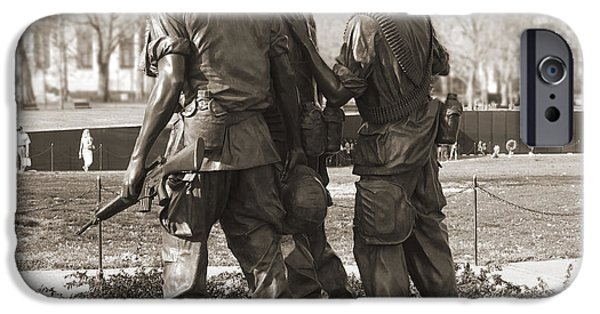 National Mall iPhone Cases - Vietnam Veterans Memorial - Washington DC iPhone Case by Mike McGlothlen