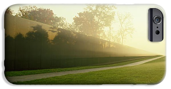 Pathway iPhone Cases - Vietnam Veterans Memorial, Washington iPhone Case by Panoramic Images