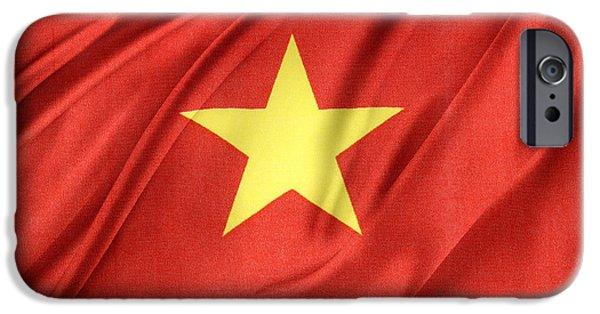 Patriotism iPhone Cases - Vietnamese flag iPhone Case by Les Cunliffe