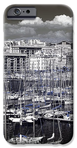 Vieux Port Clouds iPhone Case by John Rizzuto