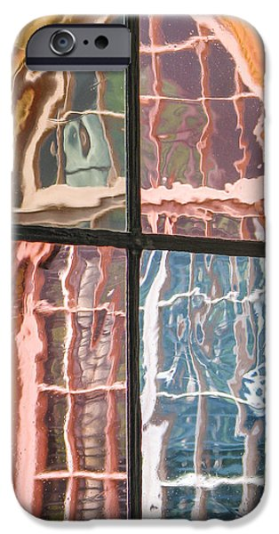 Glass Reflecting iPhone Cases - View From Another Window iPhone Case by Carolyn Marshall