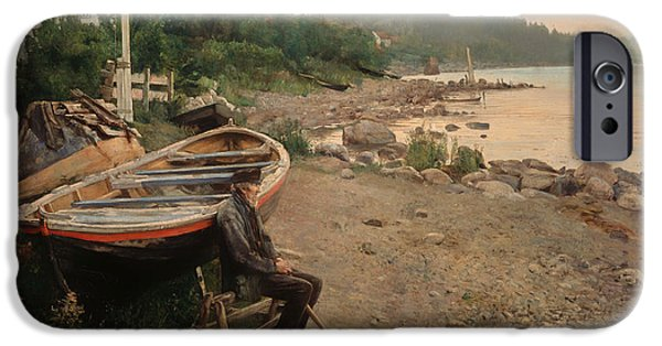 Recently Sold -  - Norway iPhone Cases - View From Asgardstrand iPhone Case by Hans Heyerdahl