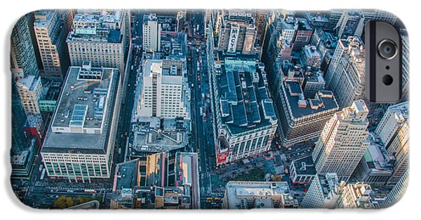 Empire State iPhone Cases - View from atop Empire State Building iPhone Case by  ILONA ANITA TIGGES - GOETZE  ART and Photography