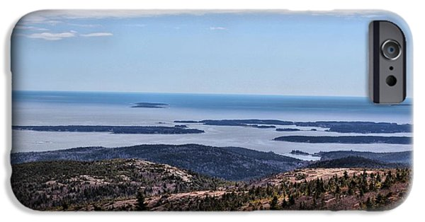 New England Lighthouse iPhone Cases - View from Cadillac Mountain iPhone Case by Joseph Marquis