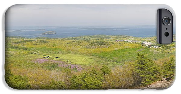 Ledge iPhone Cases - View From Dorr Mountain Over Great Meadow Acadia National Park Maine iPhone Case by Keith Webber Jr