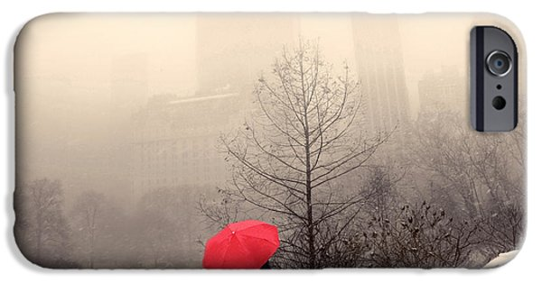 Umbrella iPhone Cases - View from Gapstow Bridge iPhone Case by Jessica Jenney