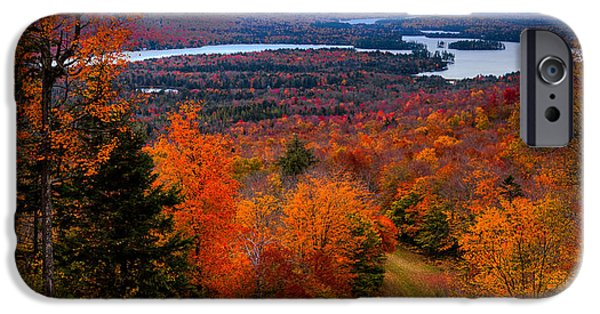 Fall Foliage iPhone Cases - View From McCauley Mountain II iPhone Case by David Patterson