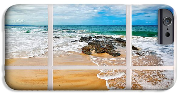 My Ocean iPhone Cases - View from my Beach House Window iPhone Case by Kaye Menner