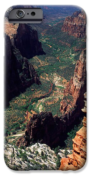 Observation iPhone Cases - View From Observation Point, Zion iPhone Case by Panoramic Images