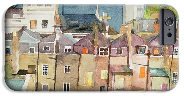 House iPhone Cases - View From Rear Window Of 48 Chester Square, Sw1, 1982 Wc On Paper iPhone Case by Izabella Godlewska de Aranda