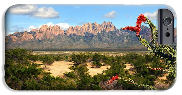 Las Cruces Digital Art iPhone Cases - View from Roadrunner iPhone Case by Kurt Van Wagner