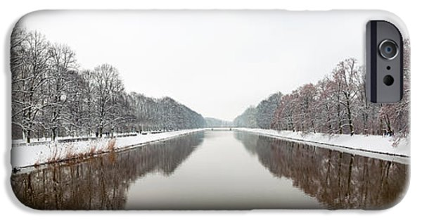 Winter Storm iPhone Cases - View From Sachsenbruke After Winter iPhone Case by Panoramic Images