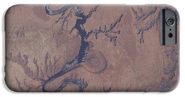 River View iPhone Cases - View From Space Of Lake Powell iPhone Case by Stocktrek Images