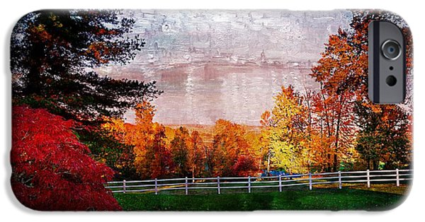 Julie Riker Dant Photography iPhone Cases - View From Sugarland Heights iPhone Case by Julie Dant