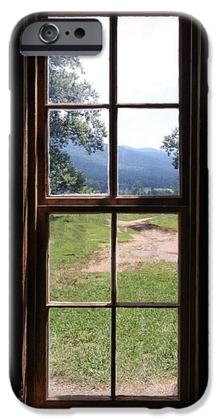 Cabin Window iPhone Cases - View From The Cabin iPhone Case by Todd A Blanchard