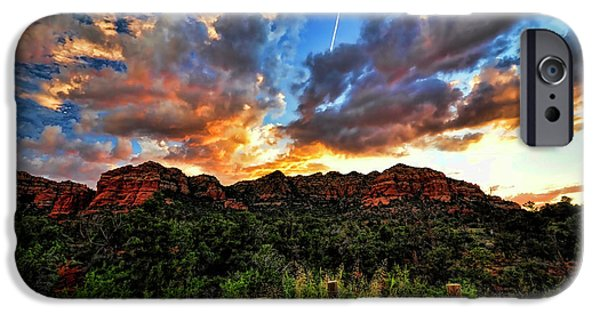 Best Sellers -  - Sedona iPhone Cases - View From the Fence  iPhone Case by Saija  Lehtonen