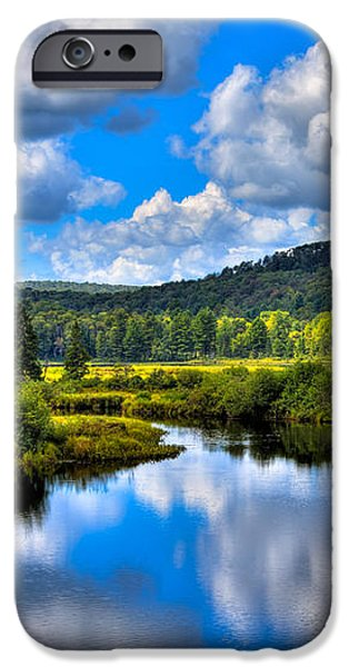 View from the Green Bridge in Old Forge NY iPhone Case by David Patterson