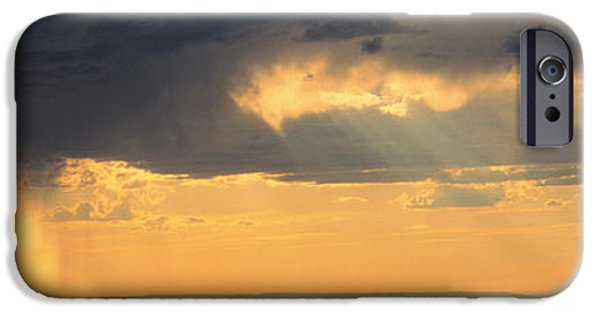 Storm iPhone Cases - View From The High Road To Taos, New iPhone Case by Panoramic Images