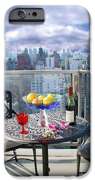Table Wine iPhone Cases - View From The Terrace iPhone Case by Madeline Ellis