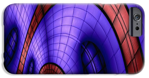 Abstract Digital iPhone Cases - View From The Top 1 iPhone Case by Wendy J St Christopher