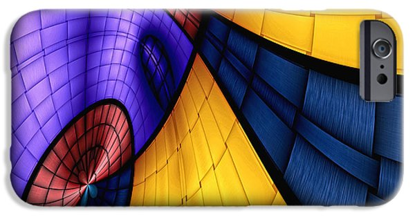 Abstract Digital iPhone Cases - View From The Top 2 iPhone Case by Wendy J St Christopher