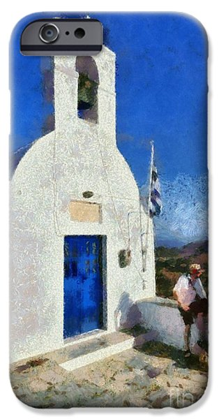 View from the top of Serifos island iPhone Case by George Atsametakis