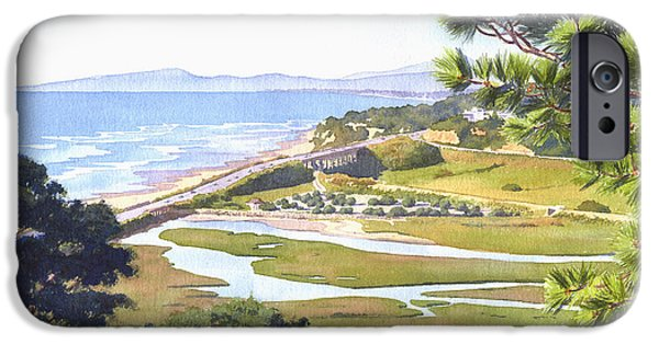 Mars Paintings iPhone Cases - View from Torrey Pines Del Mar iPhone Case by Mary Helmreich