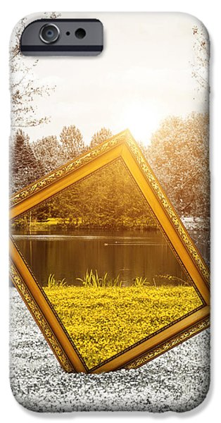Concept Photographs iPhone Cases - View in color iPhone Case by Wim Lanclus