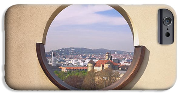 Observation iPhone Cases - View Of A City Through An Observation iPhone Case by Panoramic Images