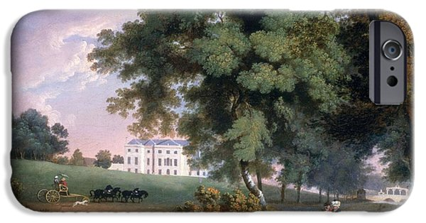 River iPhone Cases - View Of A House In Ireland iPhone Case by William Ashford