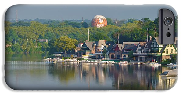 Boathouses iPhone Cases - View of Boathouse Row  iPhone Case by Bill Cannon