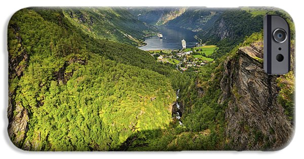 Recently Sold -  - Norway iPhone Cases - View of Geiranger Fiord iPhone Case by Jan Sieminski