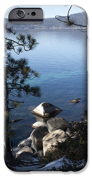 Snow Scene iPhone Cases - View of Lake Tahoe iPhone Case by Ivete Basso