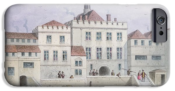 Guild iPhone Cases - View Of Old Fishmongers Hall, 1650 Wc On Paper iPhone Case by Thomas Hosmer Shepherd