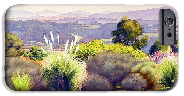 Santa iPhone Cases - View of Rancho Santa Fe iPhone Case by Mary Helmreich