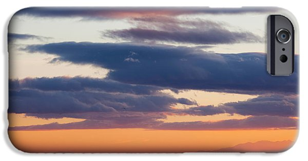 Languedoc iPhone Cases - View Of The Mediterranean Sea At Dusk iPhone Case by Panoramic Images