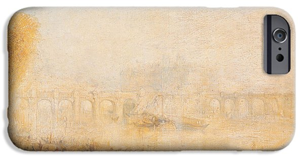 River iPhone Cases - View Of The Pont Neuf, Paris Oil On Canvas iPhone Case by Joseph Mallord William Turner
