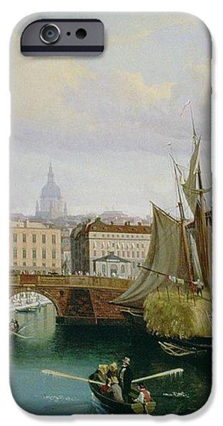 View of the Riddarholmskanalen iPhone Case by Gustav Palm